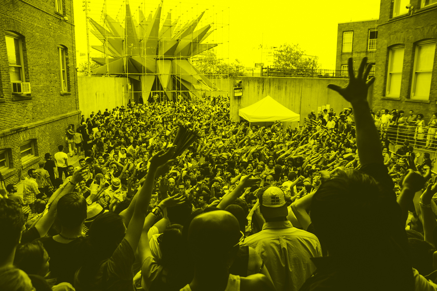 Audience at MoMA PS1's Warm Up 2012. Image courtesy of MoMA PS1. Photo by Loren Wohl.