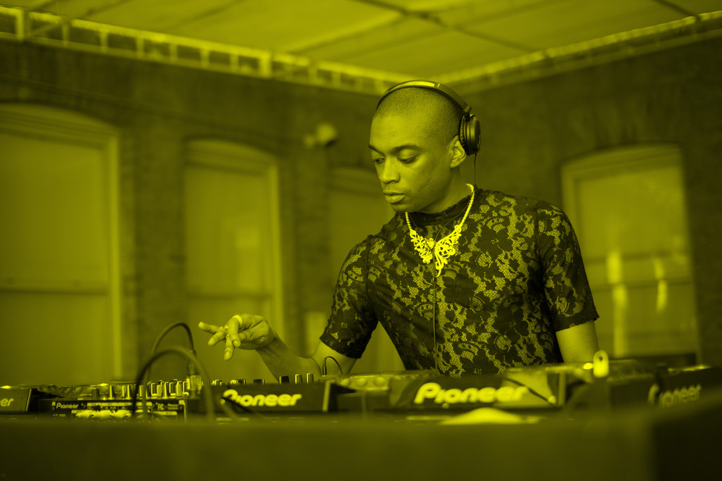 MoMA PS1's Warm Up 2015 featuring Lotic. Image courtesy of MoMA PS1. Photo by Charles Roussel.