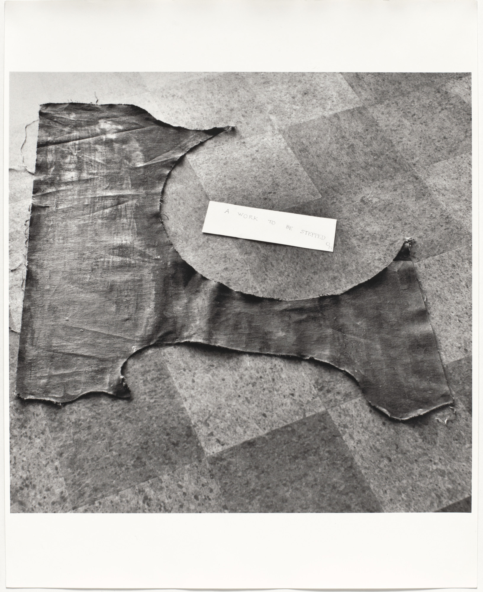 Ono, Painting To Be Stepped On, 1960/61