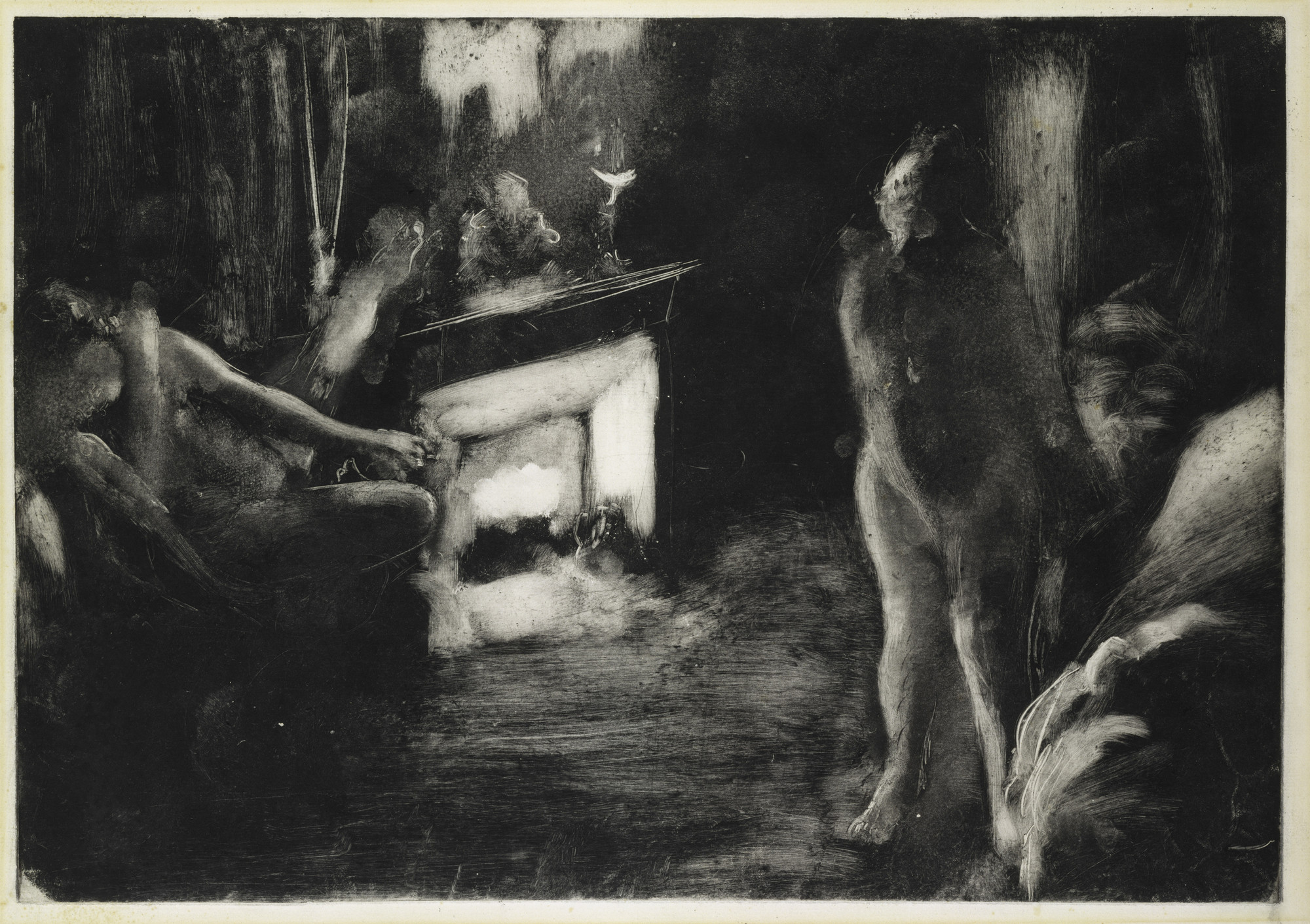 *The Fireside (Le Foyer [La Cheminée])*