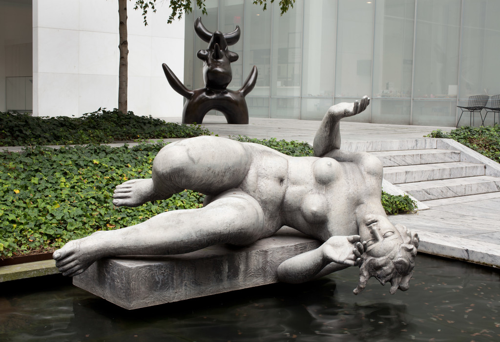 "Aristide Maillol. *The River*. Lead, 53 3/4"" x 7' 6"" x 66"" (136.5 x 228.6 x 167.7 cm), on lead base designed by the artist 9 3/4 x 67 x 27 3/4"" (24.8 x 170.1 x 70.4 cm). Mrs. Simon Guggenheim Fund. © 2017 Artists Rights Society