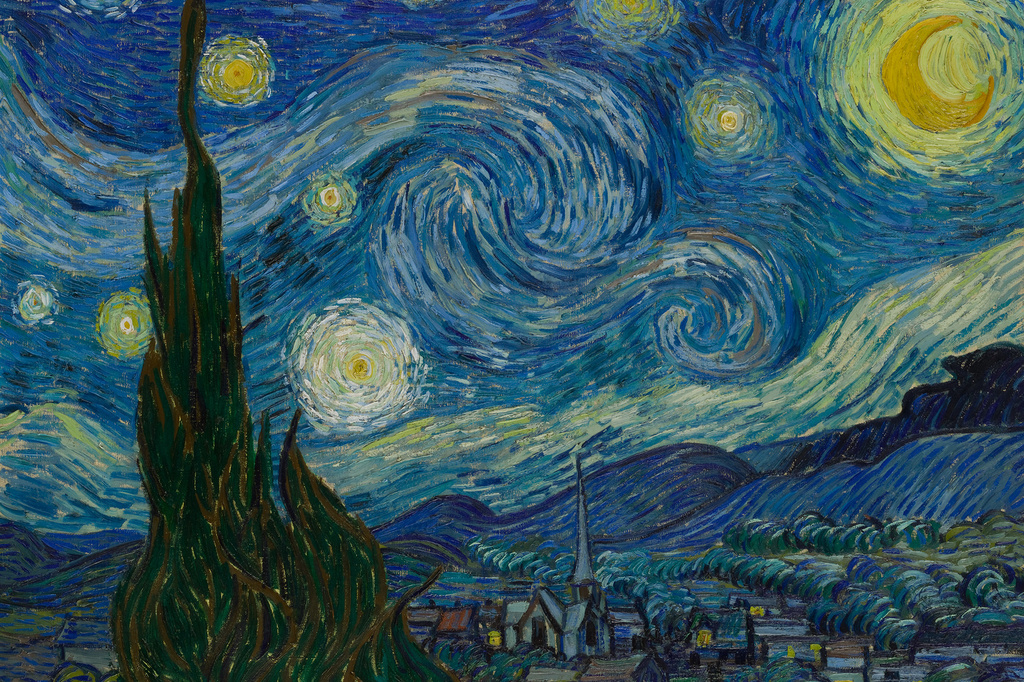 "Vincent van Gogh. The Starry Night. Saint Rémy, June 1889. Oil on canvas, 29 x 36 1/4"" (73.7 x 92.1 cm). Acquired through the Lillie P. Bliss Bequest"