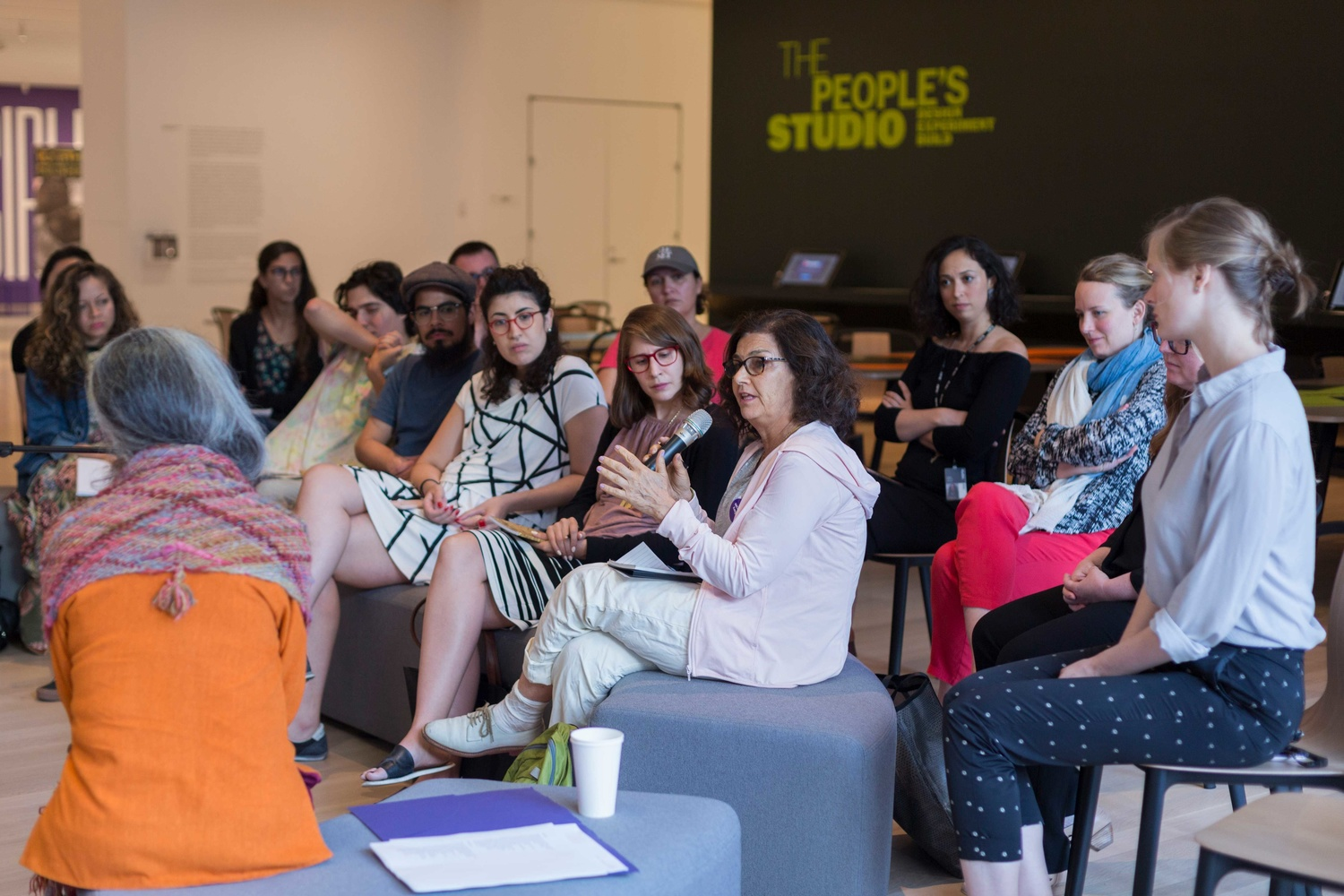Art and Practice with Cecilia Vicuña, June 28, 2017, The Museum of Modern Art. Photo: Beatriz Meseguer/onwhitewall.com. © 2017 The Museum of Modern Art, New York