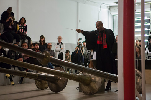 Terry Adkins. Last Trumpet. Performance view, Performa 13, 2013. Courtesy of Performa. © Chani Bockwinkel