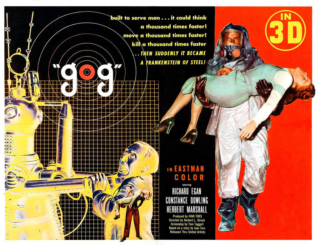 *Gog.* 1954. USA. Directed by Herbert L. Strock. Image courtesy of 3-D Film Archive