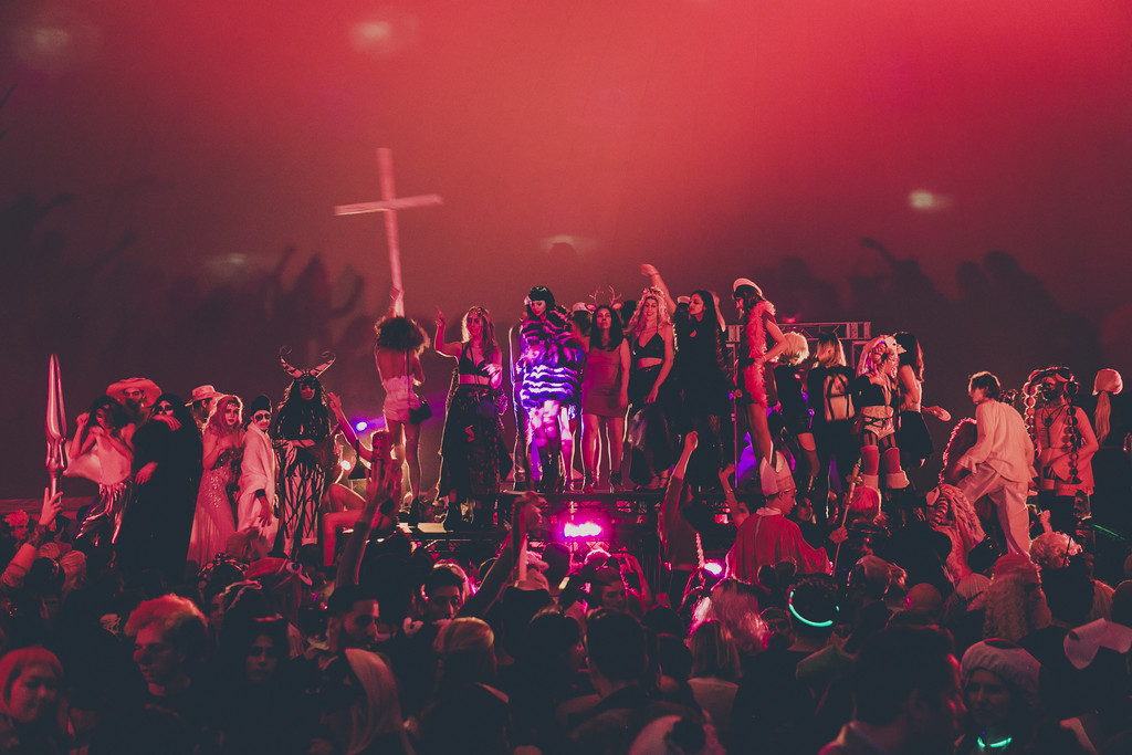 Halloween Ball, 2015, at MoMA PS1 as part of VW Sunday Sessions. © 2015 MoMA PS1, New York. Photo: Charles Roussel