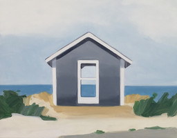 Maureen Gallace. Summer House/Dunes. 2009. Oil on panel