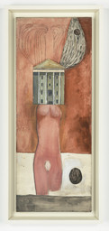 Femme Maison, 1946-47. Oil and ink on linen. Collection Louise Bourgeois Trust, New York. © 2017 The Easton Foundation/Licensed by VAGA, NY. LN2017.745