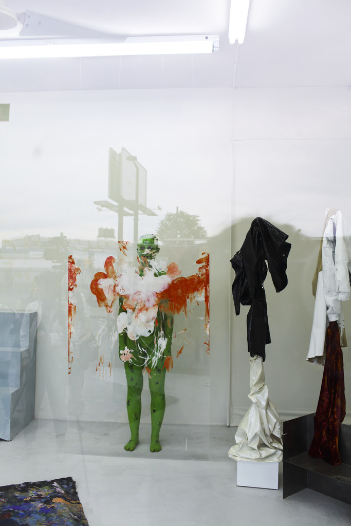Donna Huanca, *SADE ROOM (famously reclusive)*, 2014, at MoMA PS1 as a part of VW Sunday Sessions. © 2014 MoMA PS1, New York.