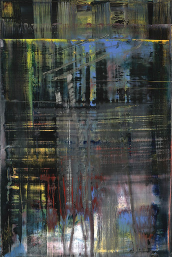 Gerhard Richter. Woods (5). 2005. Oil on canvas, 77 5⁄8 x 52″ (197.2 x 132.1 cm). The Museum of Modern Art, NY. Gift of Warren and Mitzi Eisenberg and Leonard and Susan Feinstein. Copyright © 2017 Gerhard Richter