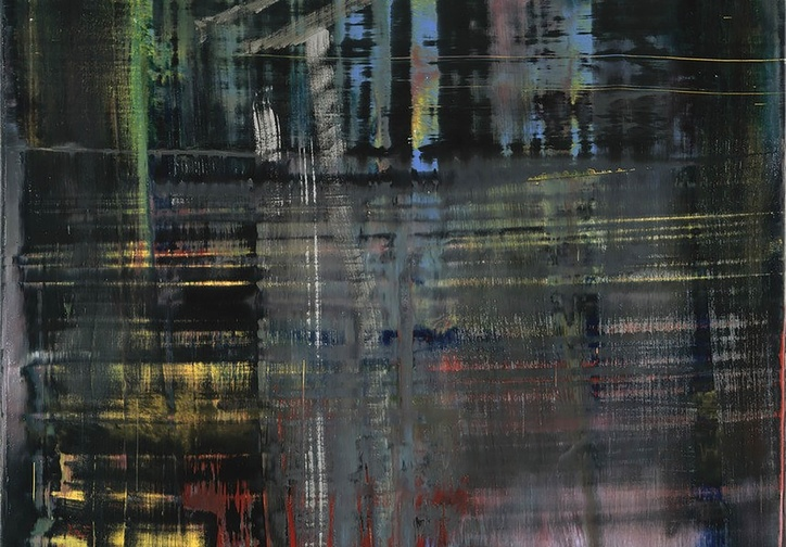 Gerhard Richter. Woods (5). 2005. Oil on canvas, 77 5/8 x 52″ (197.2 x 132.1 cm). The Museum of Modern Art, NY. Gift of Warren and Mitzi Eisenberg and Leonard and Susan Feinstein. Copyright © 2017 Gerhard Richter