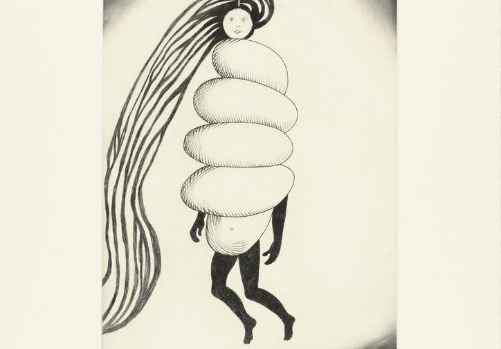 Louise Bourgeois. Spiral Woman. 2003. Drypoint and engraving, sheet: 17 x 15″ (43.2 x 38.1 cm). The Museum of Modern Art, New York. Gift of the artist. © 2017 The Easton Foundation/Licensed by VAGA, NY