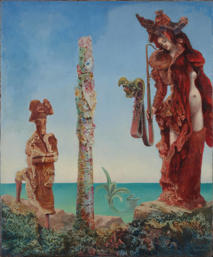 Max Ernst. Napoleon in the Wilderness. 1941. Oil on canvas, 18 1⁄4 x 15″ (46.3 x 38.1 cm). The Museum of Modern Art, New York. Purchase and exchange, 1942. © 2017 Artists Rights Society (ARS), New York/ADAGP, Paris. Photo: Thomas Griesel
