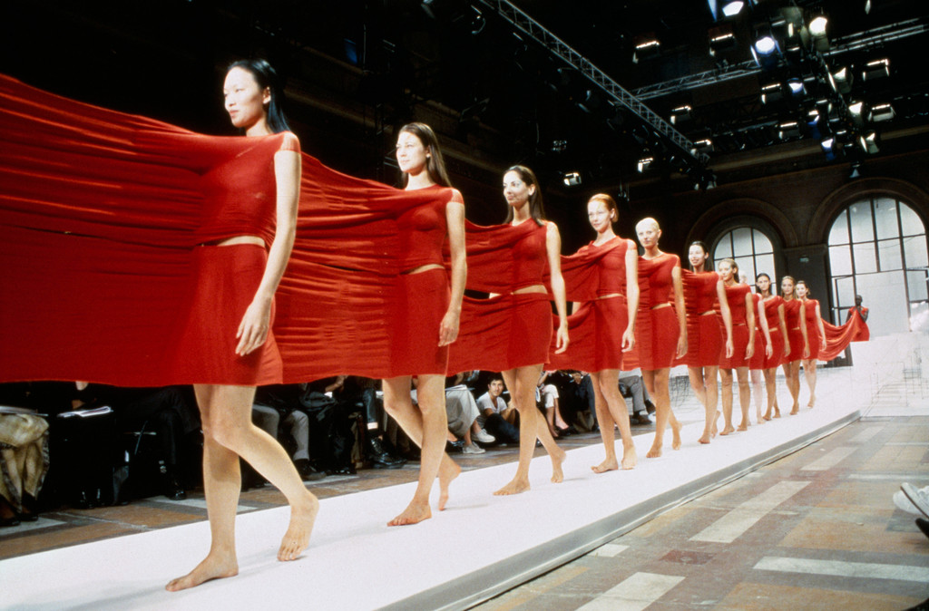 A-POC Le Feu, by Issey Miyake and Dai Fujiwara, from the Issey Miyake spring/summer 1999 collection. Photo: Yasuaki Yoshinaga. Courtesy A-POC LE FEU, 1999 Spring Summer ISSEY MIYAKE Paris Collection
