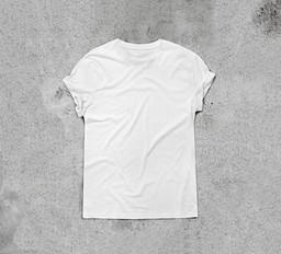 "Unknown designer. White T-shirt. Cotton. 29 x 35 1/2"" (73.7 x 90.2 cm) (irreg). Gift of the manufacturer. Image courtesy Shutterstock/SFIO CRACHO 2017"