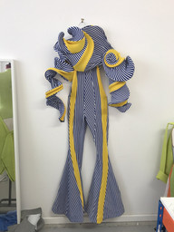 Richard Malone (Irish, born 1990). Richard Malone (Ireland, founded 2015). Jumpsuit Specimen, 2017. Recycled acrylic knit and plastic boning. Commissioned for Items: Is Fashion Modern? Image courtesy the designer