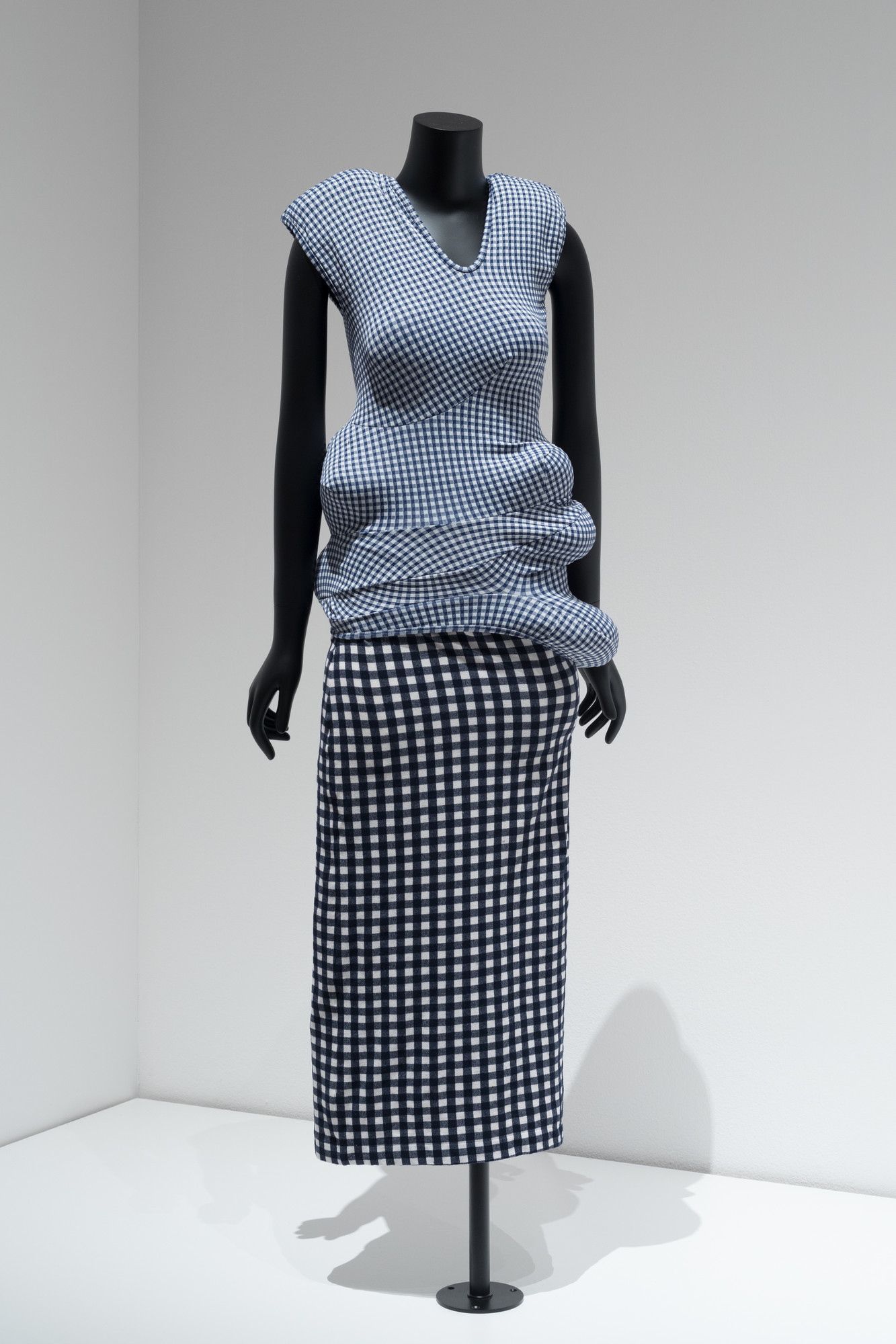Rei Kawakubo (Japanese, born 1942). Comme des Garçons (Japan, founded 1973). Ensemble (bodice and skirt). Spring/summer 1997. Body Meets Dress--Dress Meets Body collection. Stretch polyester. Indianapolis Museum of Art. Fashion Arts Society Acquisition Fund. Purchased with funds provided by F. Timothy and Nancy Nagler
