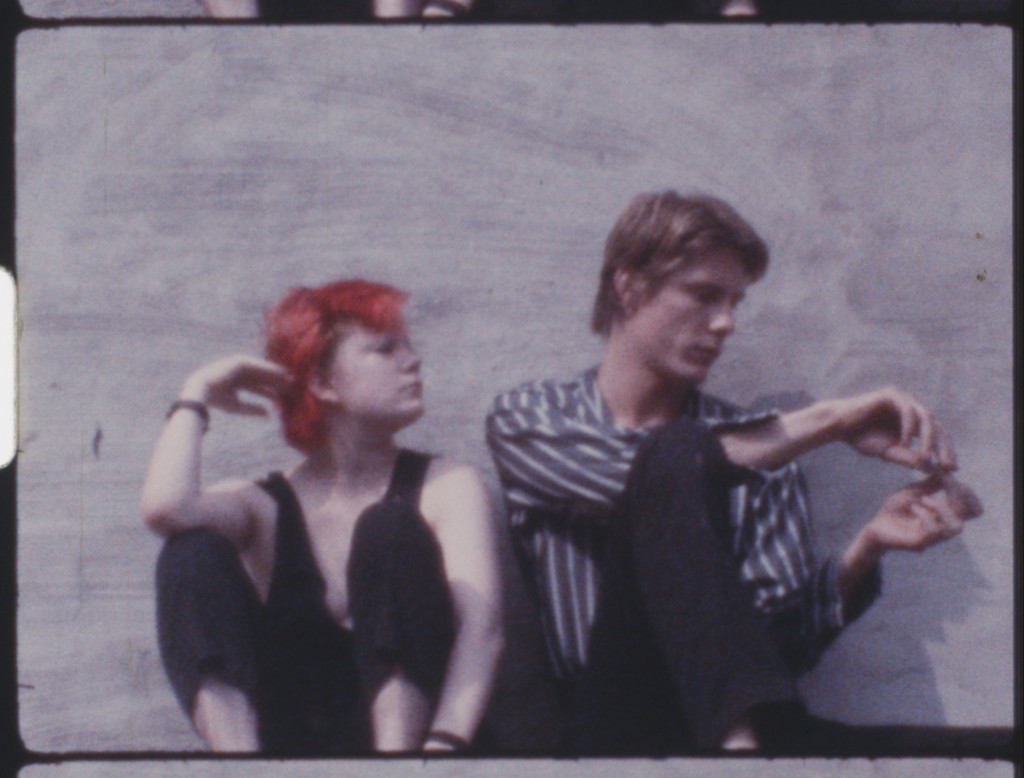 Trixie Salke and James Nares in a still from *Dear Jimmy*. 1978. USA. Directed by Harald Vogl