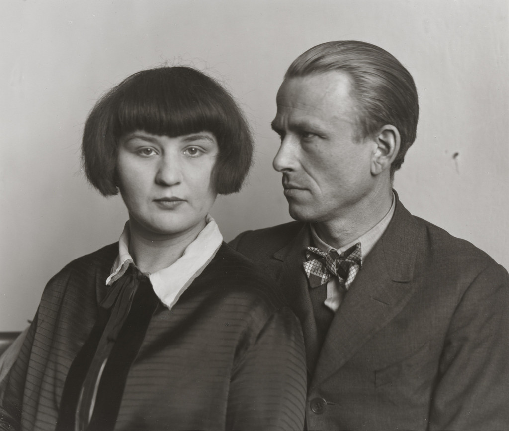 August Sander (German. 1876–1964). *The Painter Otto Dix and his Wife Martha.* 1925–26. Gelatin  silver print, 10 3/16 × 7 3/8″ (25.8 × 18.7 cm). The Museum of Modern Art, New York. Gift of the artist. © 2016 Die Photographische Sammlung/SK Stiftung Kultur - August Sander Archiv, Cologne/ARS, NY