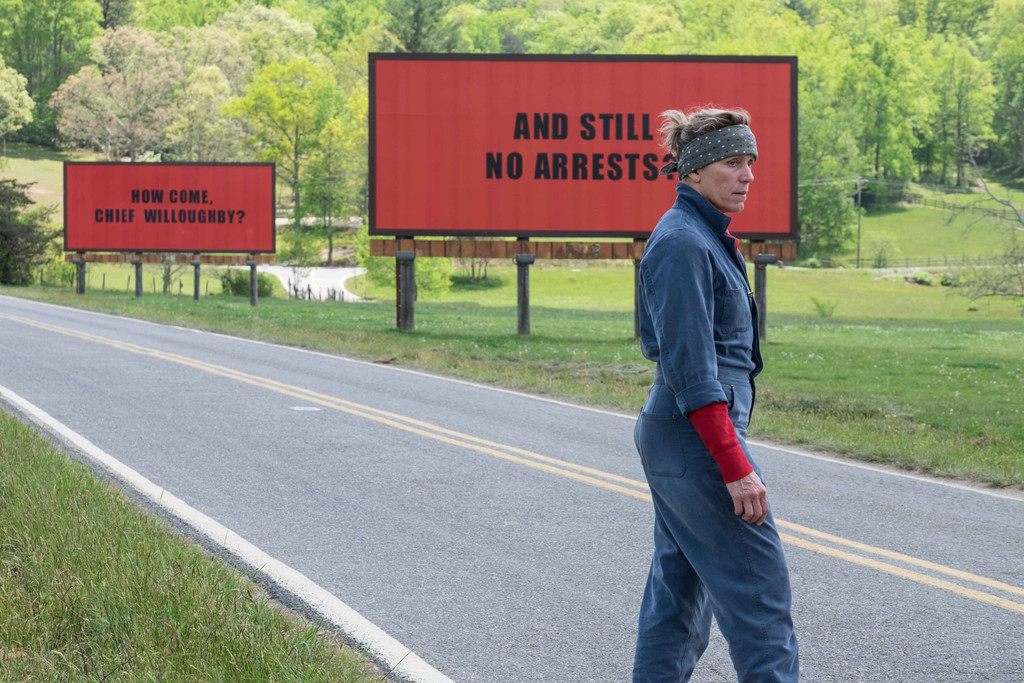 *Three Billboards Outside Ebbing, Missouri*. 2017. USA. Directed by Martin McDonagh. Courtesy of Fox Searchlight