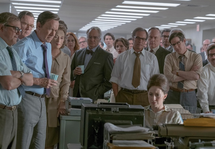 The Post. 2017. USA. Directed by Steven Spielberg. Courtesy of Twentieth Century Fox