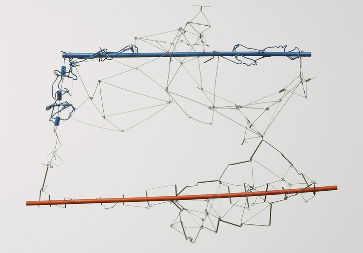 Gego (Gertrud Goldschmidt). Drawing without Paper 84/25 and 84/26. 1984 and 1987. Enamel on wood and stainless steel wire, 23 5/8 x 34 5/8 x 16 3/4″ (60 x 88 x 40 cm). The Museum of Modern Art, NY. Gift of Patricia Phelps de Cisneros in honor of Susan and Glenn Lowry. Copyright © 2017 Fundación Gego