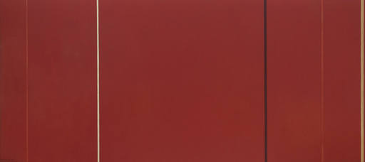 "Barnett Newman. Vir Heroicus Sublimis. 1950–51. Oil on canvas, 7' 11 3⁄8"" x 17' 9 1⁄4"" (242.2 x 541.7 cm). The Museum of Modern Art, NY. Gift of Mr. and Mrs. Ben Heller. © 2017 Barnett Newman Foundation/Artists Rights Society (ARS), New York"