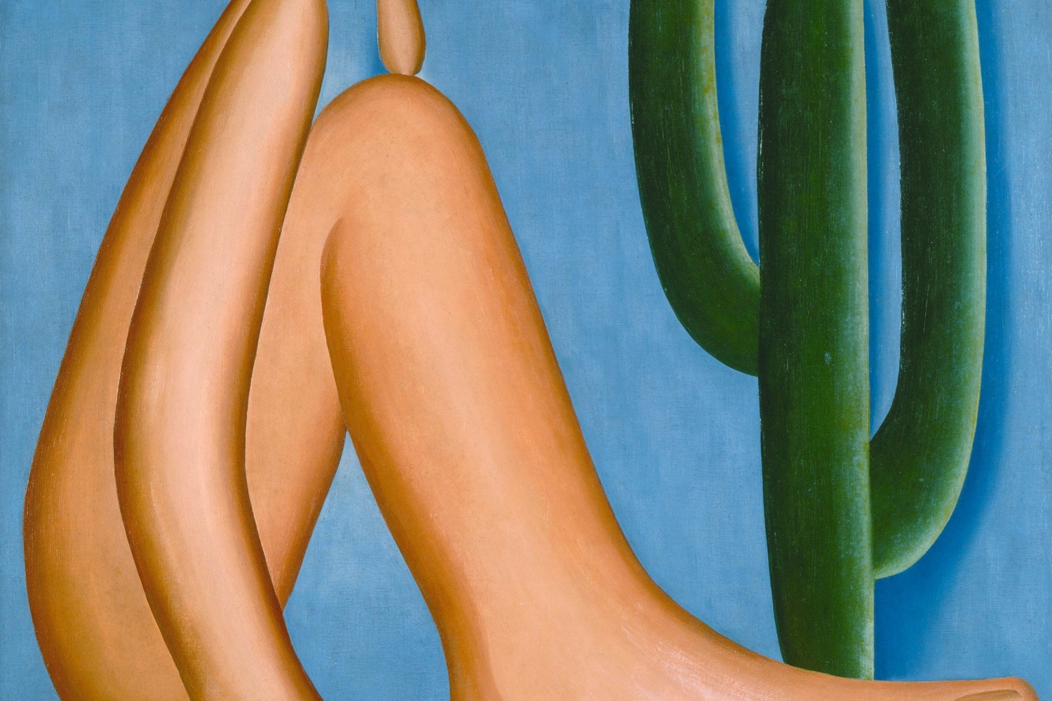 Tarsila do Amaral. Abaporu. 1928. Oil on canvas, 33 7/16 x 28 3/4″ (85 x 73 cm). Collection MALBA, Museo de Arte Latinoamericano de Buenos Aires. © Tarsila do Amaral Licenciamentos