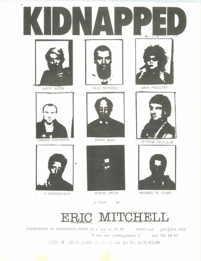 Poster for Kidnapped. 1978. USA. Directed by Eric Mitchell. Designed by and courtesy the artist