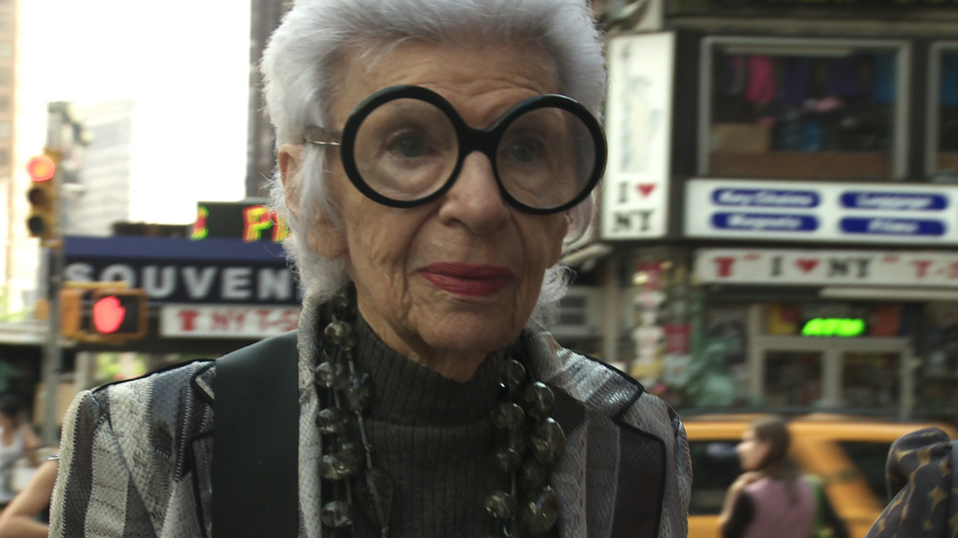 Iris. 2014. USA. Directed by Albert Maysles. Image courtesy of Magnolia Pictures