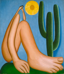 "Tarsila do Amaral. Abaporu. 1928. Oil on canvas, 33 7/16 x 28 3/4"" (85 x 73 cm). Collection MALBA, Museo de Arte Latinoamericano de Buenos Aires. © Tarsila do Amaral Licenciamentos"