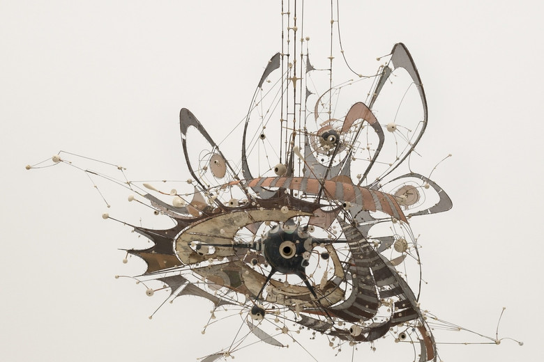 Lee Bontecou (American, born 1931).  Untitled. 1980-98. Welded steel, porcelain, wire mesh, canvas, grommets, and wire. 7 x 8 x 6' (213.4 x 243.8 x 182.9 cm). Gift of Philip Johnson (by exchange) and the Nina and Gordon Bunshaft Bequest Fund. © 2018 Lee Bontecou