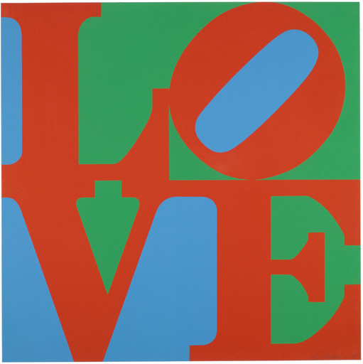 "Robert Indiana. LOVE. 1967. Screenprint, 33 15⁄16 x 33 15⁄16"" (86.3 x 86.3 cm). Publisher: Multiples, Inc., New York. Printer: Sirocco Screenprinters, North Haven, Conn. Edition: 250. The Museum of Modern Art, New York. Riva Castleman Fund. © 2018 Morgan Art Foundation Ltd./Artists Rights Society (ARS), New York"
