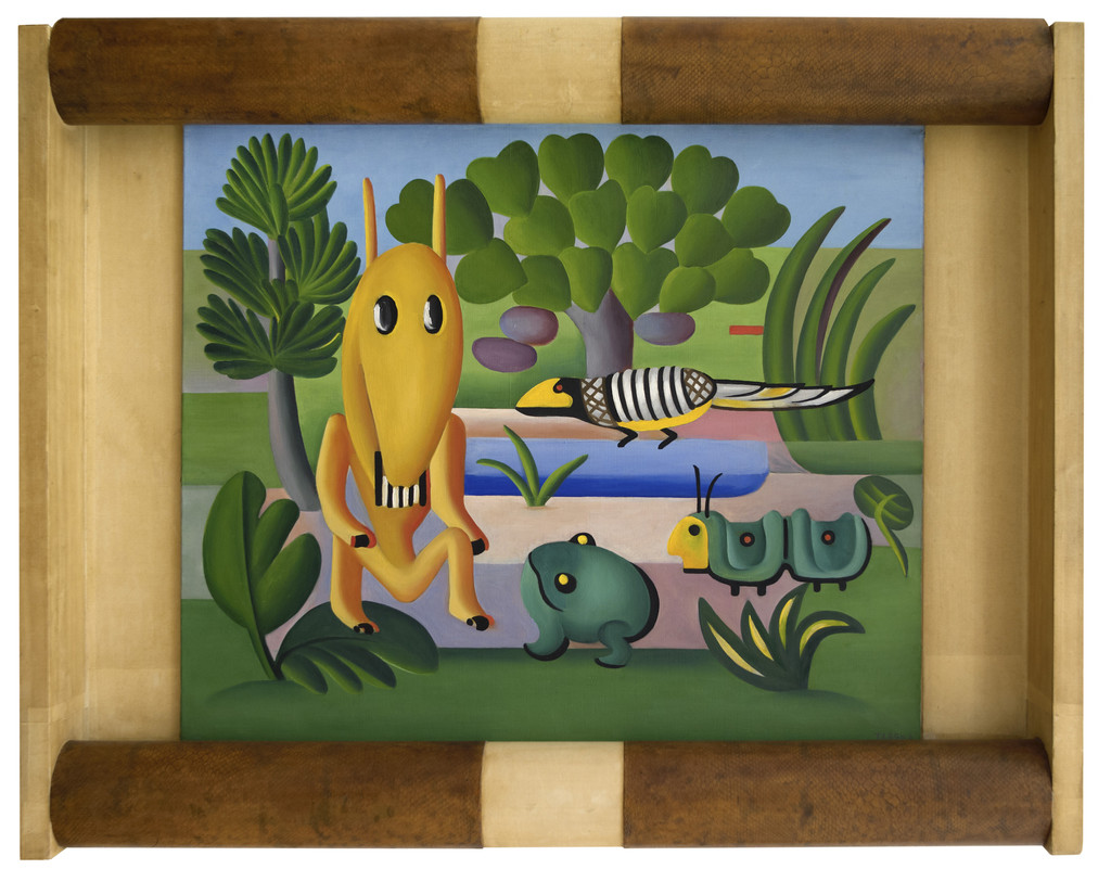Tarsila do Amaral. _A Cuca_, 1924. Oil on canvas, 23 13/16 × 28 9/16 in. (60.5 × 72.5 cm). Centre National des Arts Plastiques, Paris, France FNAC 9459. Photography © Cnap / Ville de Grenoble / Musée de Grenoble – J.L. Lacroix. © Tarsila do Amaral Licenciamentos