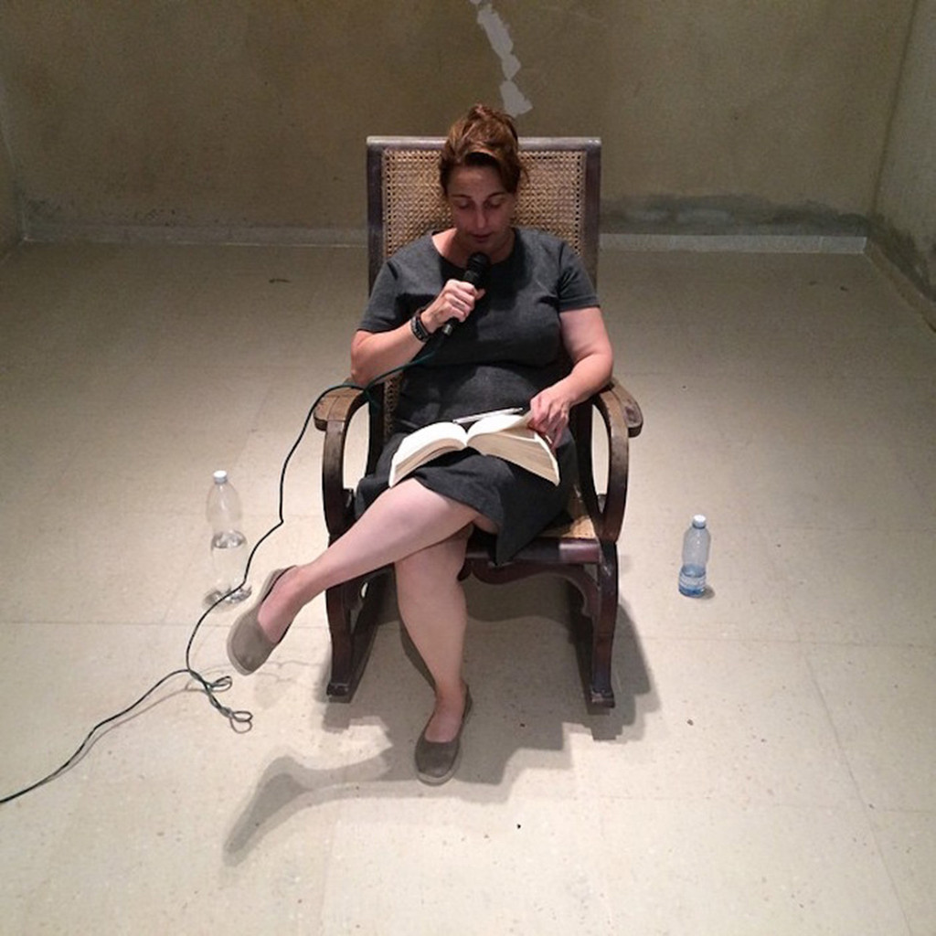 Tania Bruguera during a working session of the Hannah Arendt International Institute of Artivism, Havana, May 2015. Image courtesy of the artist and Plataforma Yo También Exijo, Havana. Photo: Pablo León de la Barra