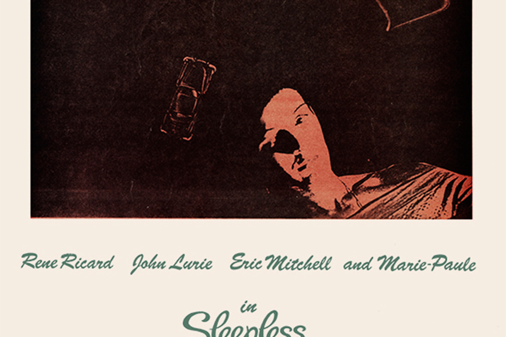 A flyer for Sleepless Nights. 1979. USA. Directed by Becky Johnston. Image courtesy of Maripol