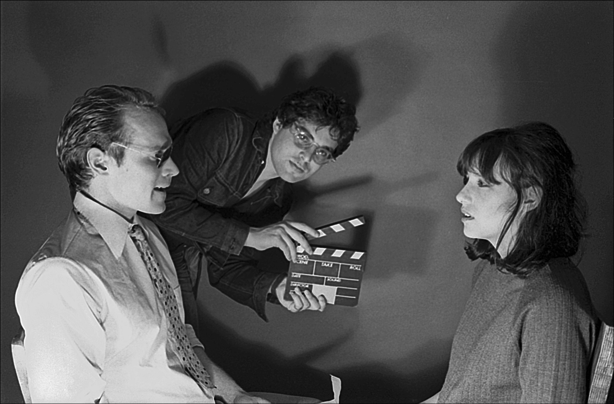 Will Patton, Michael Oblowitz and Rosemary Hochschild on the set of Minus Zero. 1979. USA. Directed by Oblowitz. Courtesy the artist