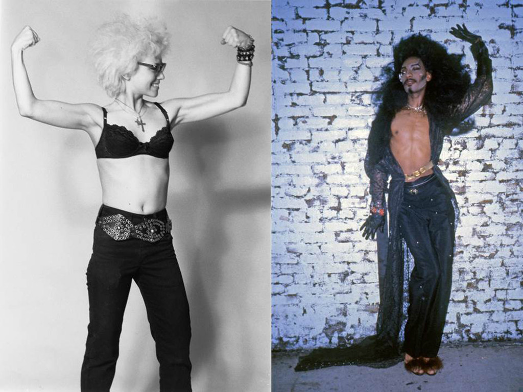 Left:  *Dany Johnson.* c. 1980. Right: *Gerard Little, also known as Frankie Lymon's Nephew, also known as Mr. Fashion, Pyramid Club*. 1985. Photographs by and courtesy April Palmieri