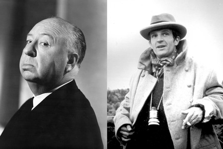 From left: Alfred Hitchcock. Courtesy of Universal Pictures/Photofest; Francois Truffaut. Courtesy of Photofest