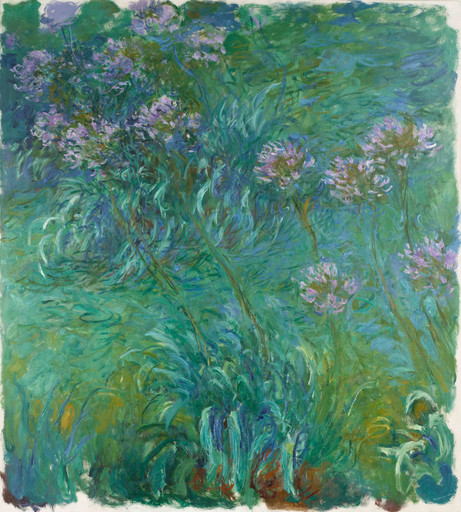 "Claude Monet. Agapanthus. 1914–26. Oil on canvas, 6' 6"" x 70 1⁄4"" (198.2 x 178.4 cm). Gift of Sylvia Slifka in memory of Joseph Slifka"