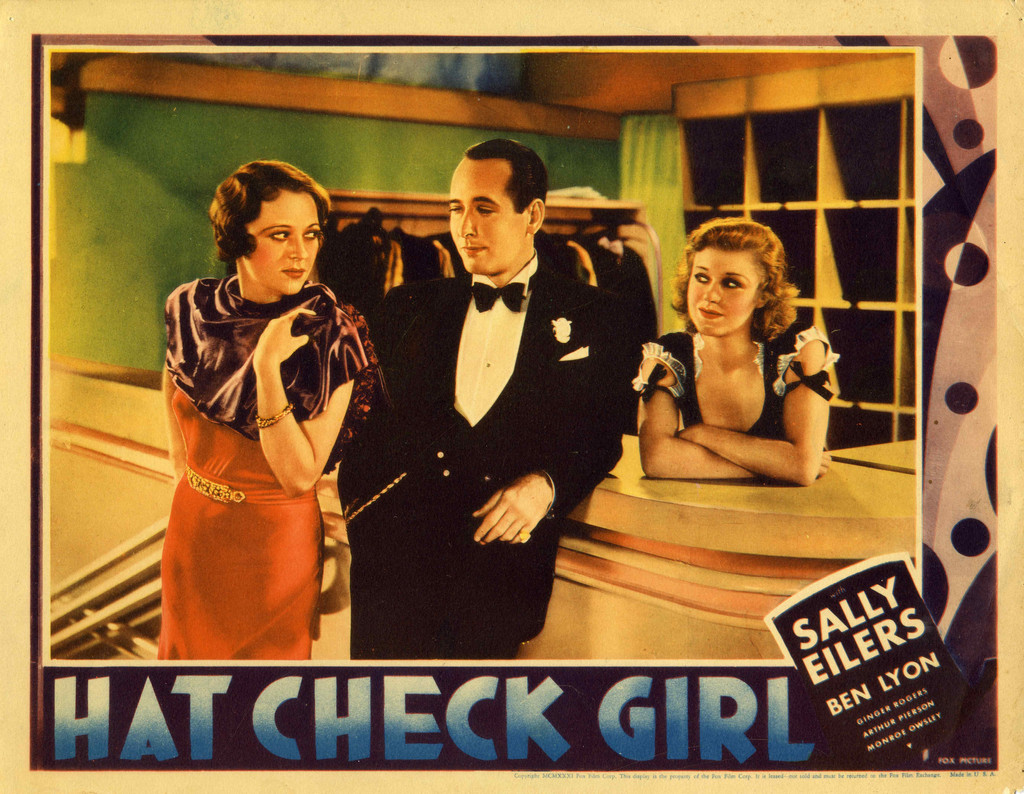 *Hat Check Girl*. 1932. USA. Directed by Sidney Lanfield