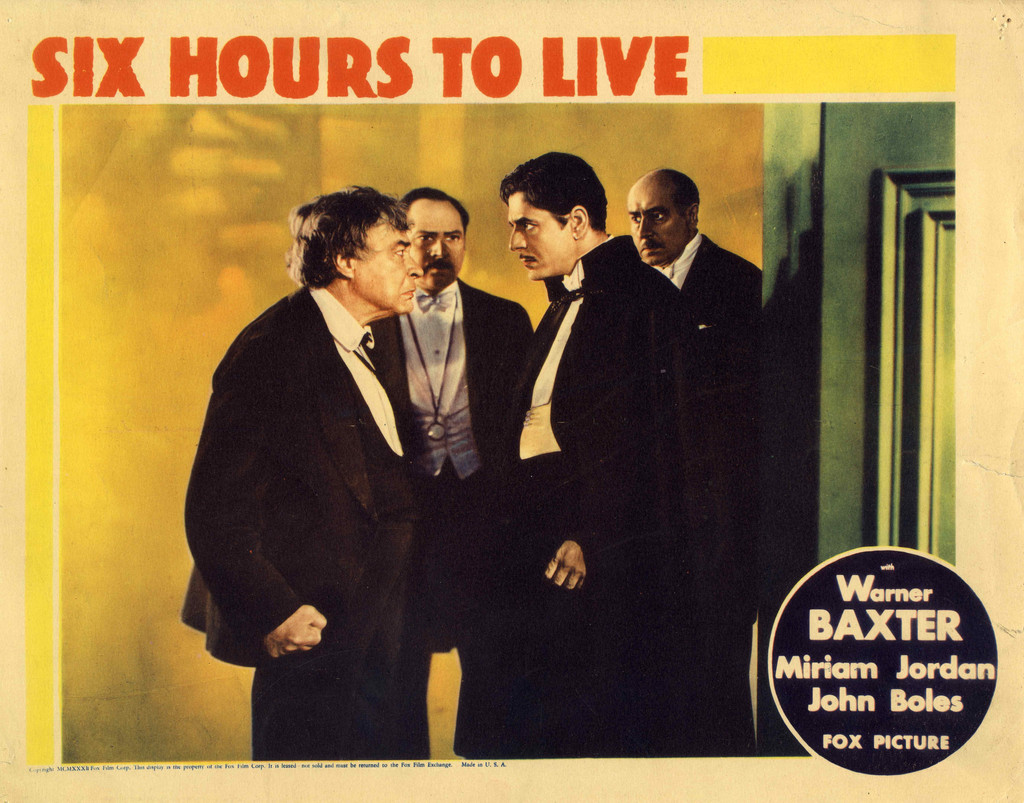 *6 Hours to Live*. 1932. USA. Directed by Wilhelm (William) Dieterle