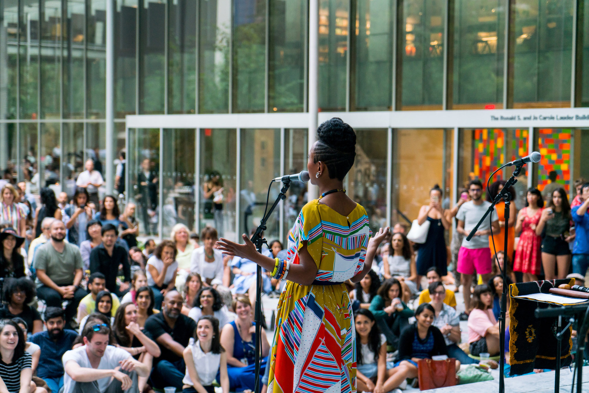 Alsarah at MoMA, summer 2017. Photo: Alex Nawrocky