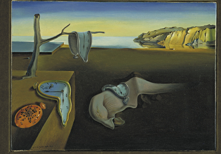 Salvador Dalí. The Persistence of Memory. 1931. Oil on canvas, 9 1/2 x 13″ (24.1 x 33 cm). The Museum of Modern Art, New York. Given anonymously. © 2011 Salvador Dalí, Gala-Salvador Dalí Foundation / Artists Rights Society (ARS), New York