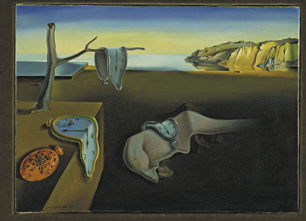 Salvador Dalí. *The Persistence of Memory*. 1931. Oil on canvas, 9 1/2 x 13″ (24.1 x 33 cm). The Museum of Modern Art, New York. Given anonymously. © 2011 Salvador Dalí, Gala-Salvador Dalí Foundation / Artists Rights Society (ARS), New York