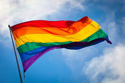 The Rainbow Flag waving in the wind at San Francisco's Castro District. Photo: Benson Kua. Image used through Wikimedia Commons