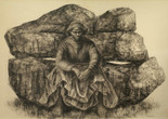 "Charles White (American, 1918–1979). General Moses (Harriet Tubman). 1965. Ink on paper, 47 × 68"" (119.4 × 172.7 cm). Private collection. © The Charles White Archives/ Courtesy of Swann Auction Galleries"