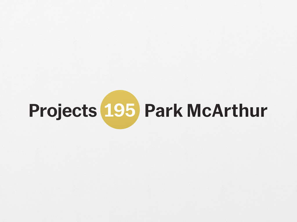 Park McArthur. *Is this an investment, pied-à-terre, or primary residence?* 2018. Adjusted Projects logo scaled to dimensions of gallery square footage. Edition: 3 + 1 AP. Courtesy the artist and ESSEX STREET gallery