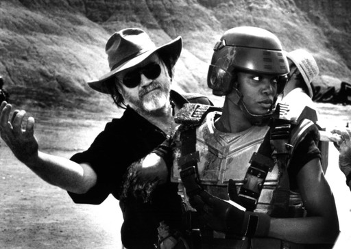 Phil Tippett on the set of Starship Troopers (1997). Courtesy of Tippett Studio