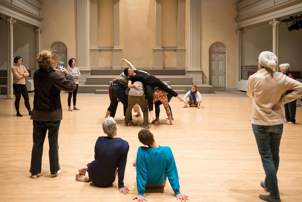 Simone Forti. *Huddle*. 1961. Performance. 10 min. The Museum of Modern Art, New York. Committee on Media and Performance Art Funds. © 2018 The Museum of Modern Art, New York. Digital Image: © 2018 Danspace Project. Photo: Ian Douglas